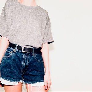 ✭ Dark gray forever 21 thick T-shirt ✭